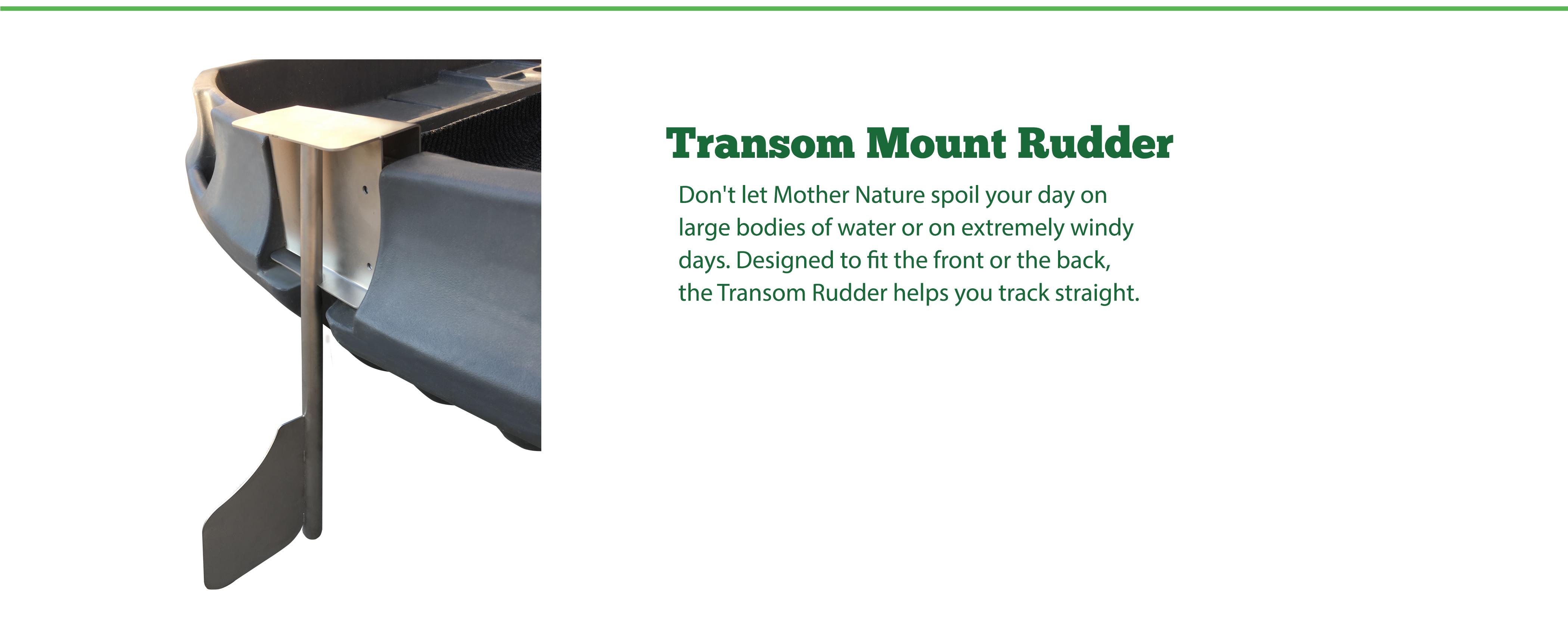 Transom Motor Rudder